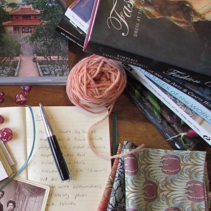 Boeken, wol, notitieboekje vierkant Kim Somberg