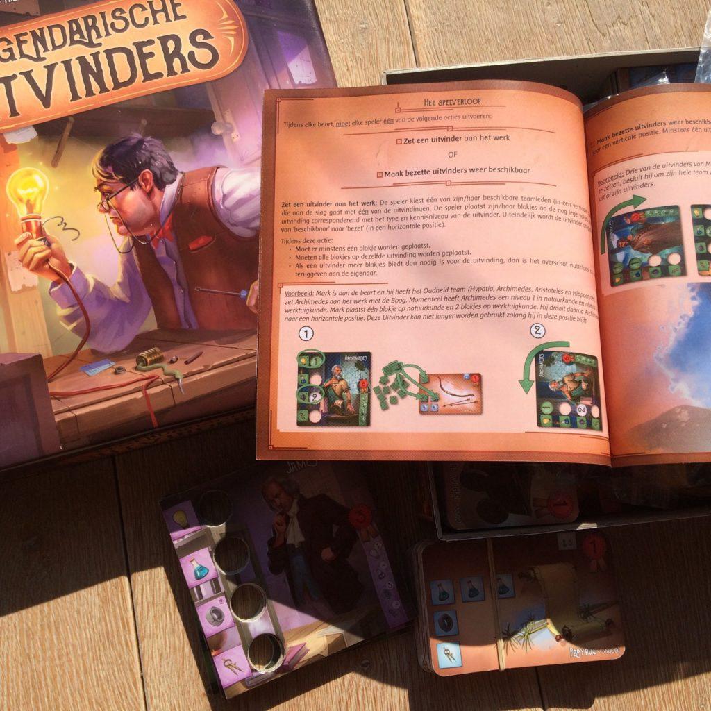 Legendarische Uitvinders doos + spelregels