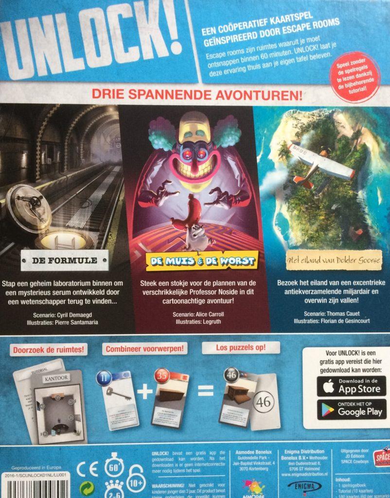 Unlock! achterkant doos Nederlands