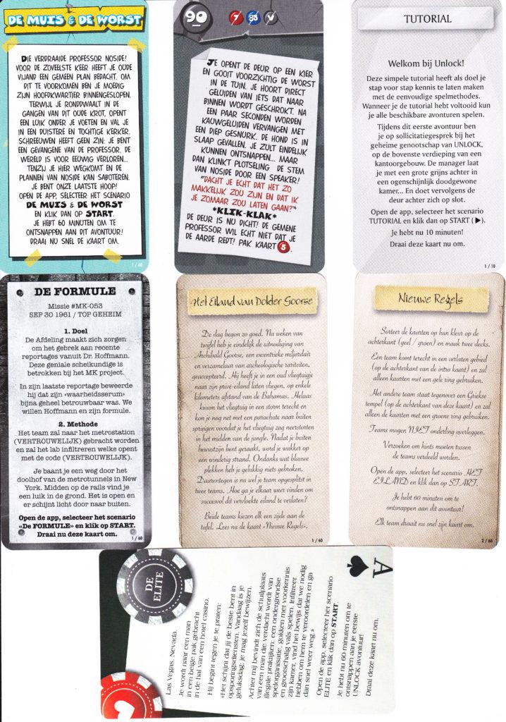 Unlock! kaarten