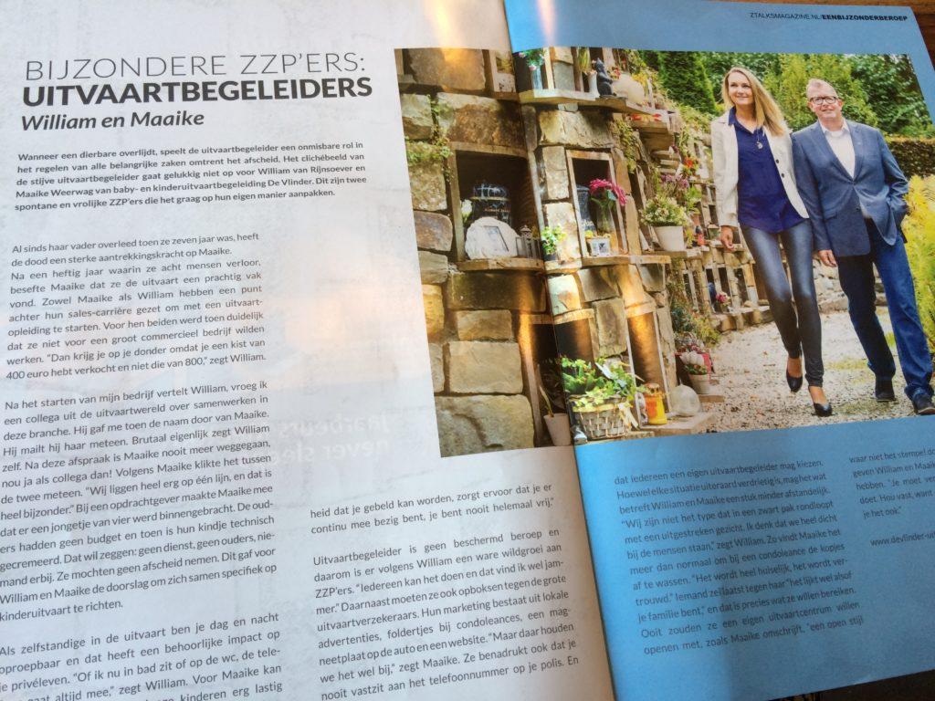ZTalks Magazine Uitvaartbegeleiders spread
