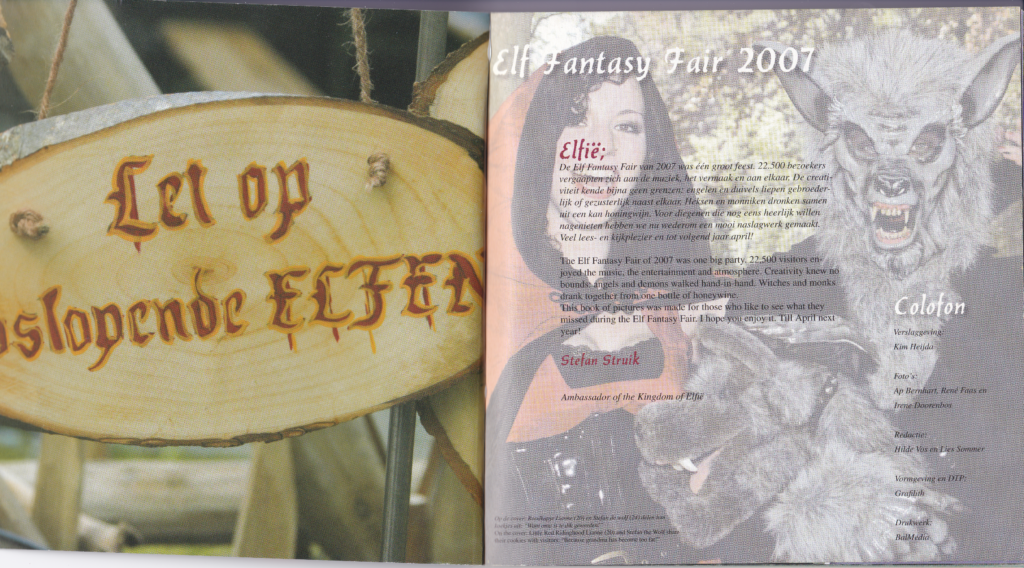 booklet Elf Fantasy Fair 2007 first page
