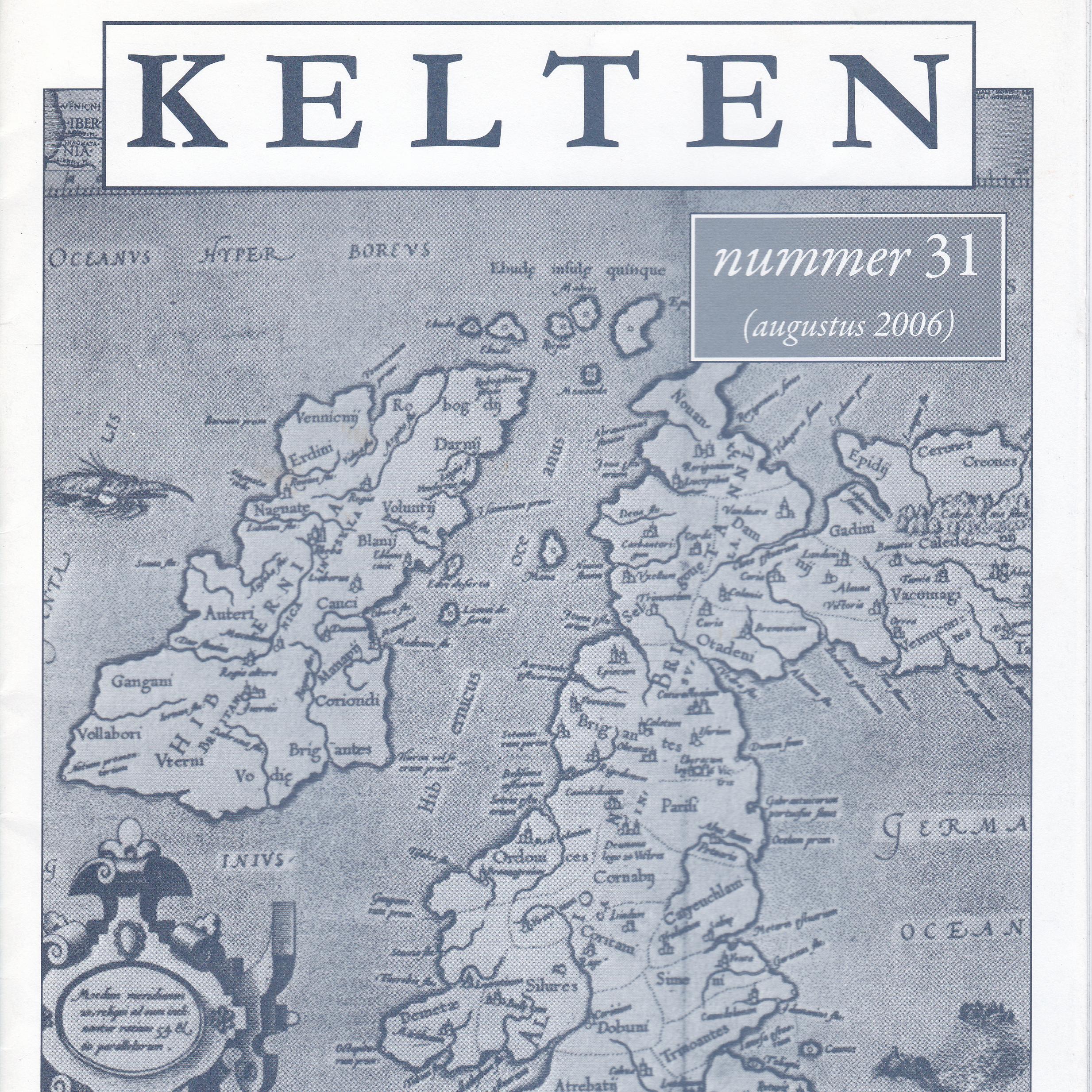 wetenschappelijk tijdschrift Kelten nummer 31 vierkant artikelen