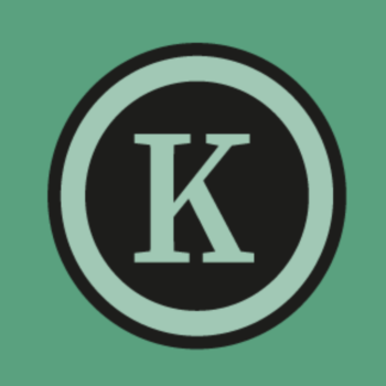 Kim Somberg: Tekst en Redactie logo K dark green large
