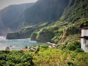 Madeira beautiful coast near Seixal