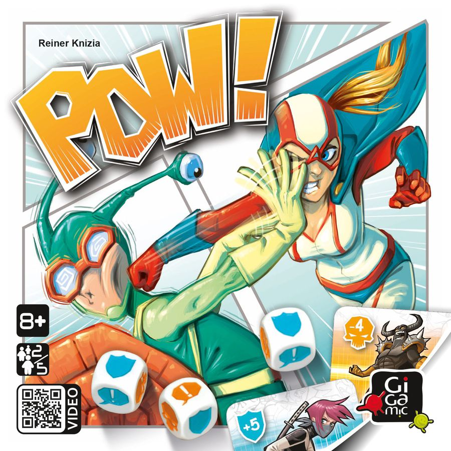 POW! board game front box