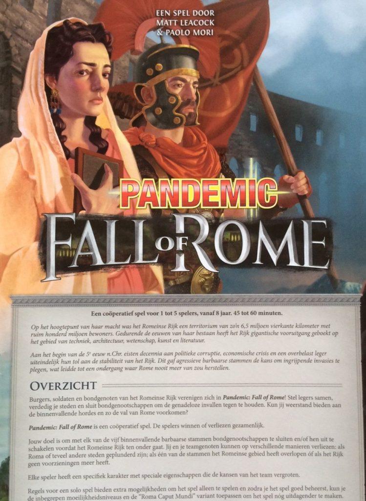 Pandemic Fall of Rome spelregels intro
