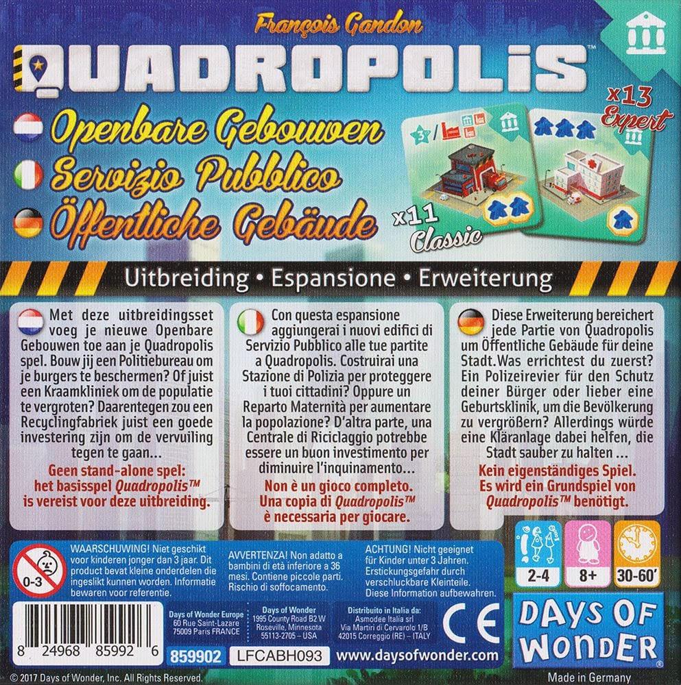 Quadropolis Openbare Gebouwen uitbreiding achterkant doos